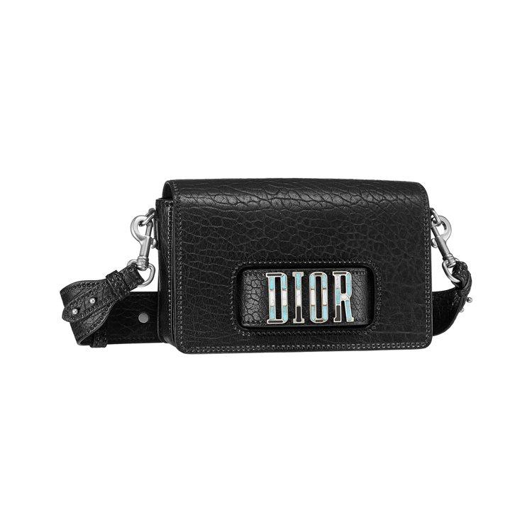 Dio(r)evolution黑色峽谷壓紋小羊皮馬賽克寶石鑲嵌手拿肩背包,售價1...