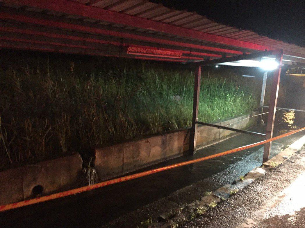 宜蘭縣員山鄉有洗衣池畔因漏電傷人。圖/宜蘭縣消防局提供