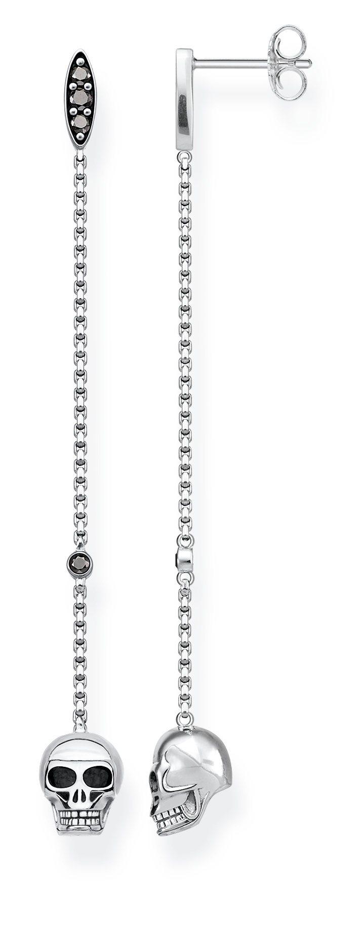 純銀骷髏頭垂墜耳環,6,280元。圖/THOMAS SABO提供
