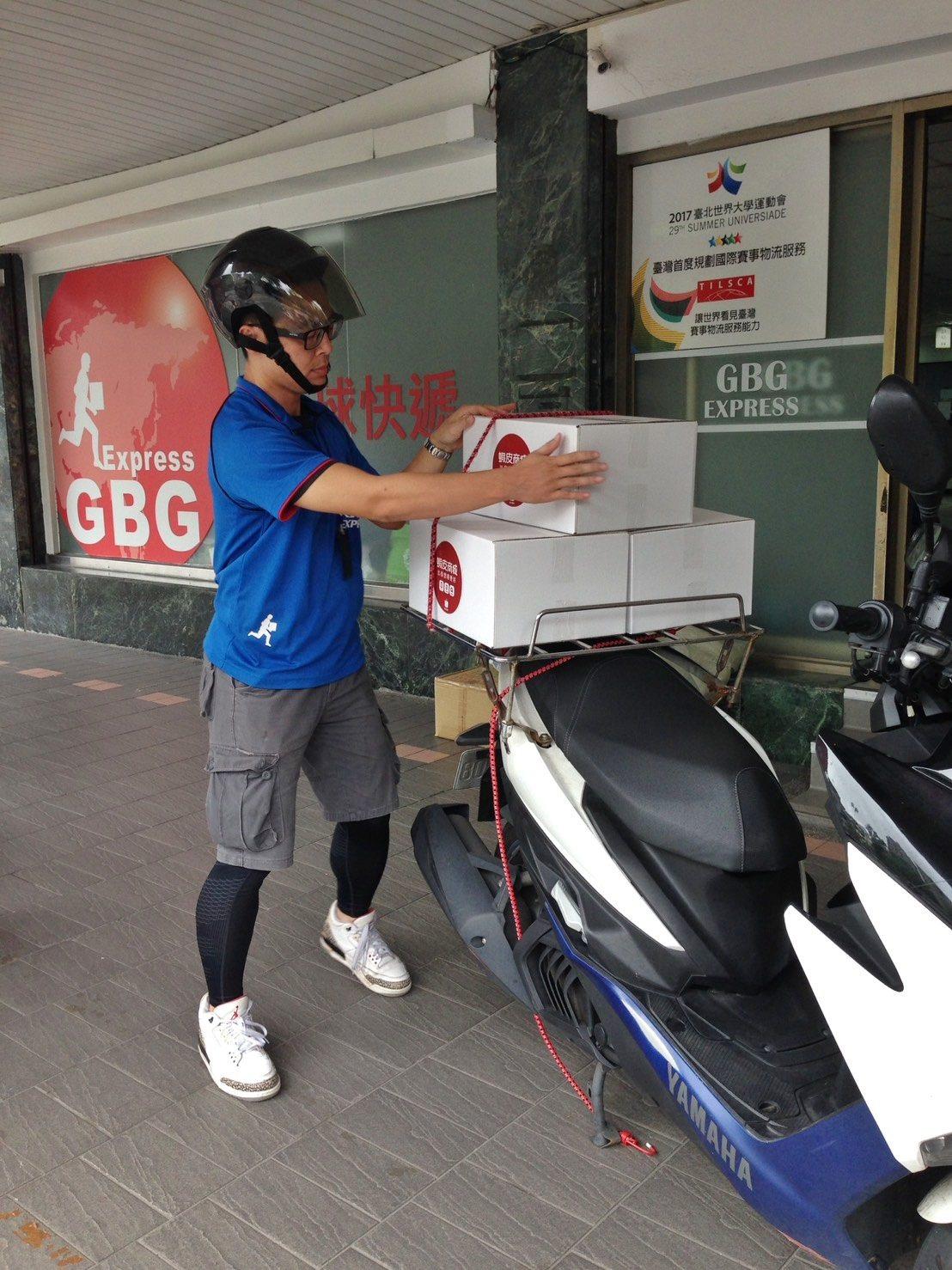逾300輛的機車大隊是蝦皮購物達成台北市2小時送貨到府極限的功臣。照片提供/台灣...