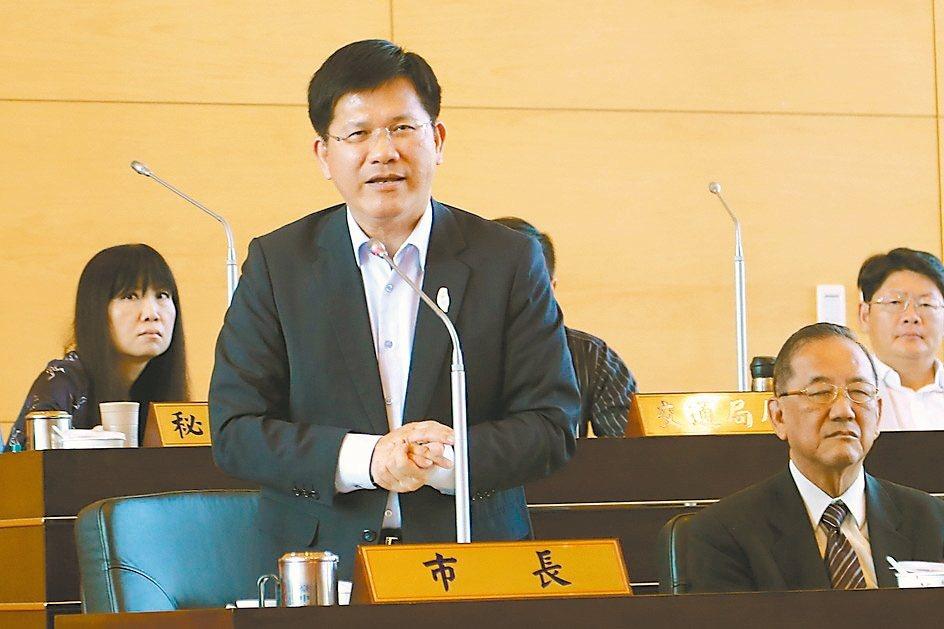 台中市長林佳龍。 聯合報系記者陳秋雲/攝影