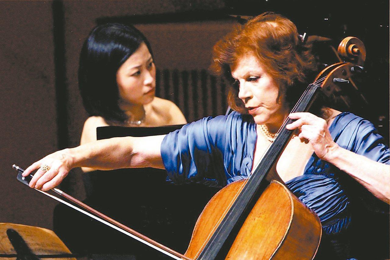 瓦列芙斯卡(右)與福原彰美合作演出。 圖/聯合數位文創提供