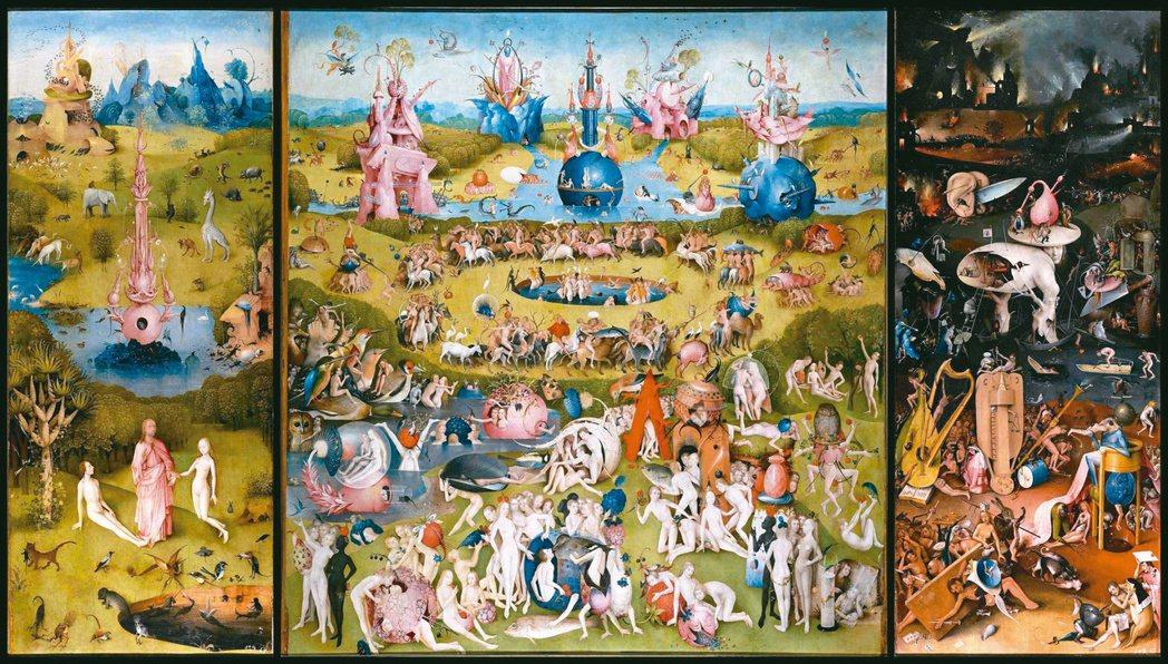 圖一:波希的〈人間樂園〉祭壇畫三連作。 圖片提供/蔣勳