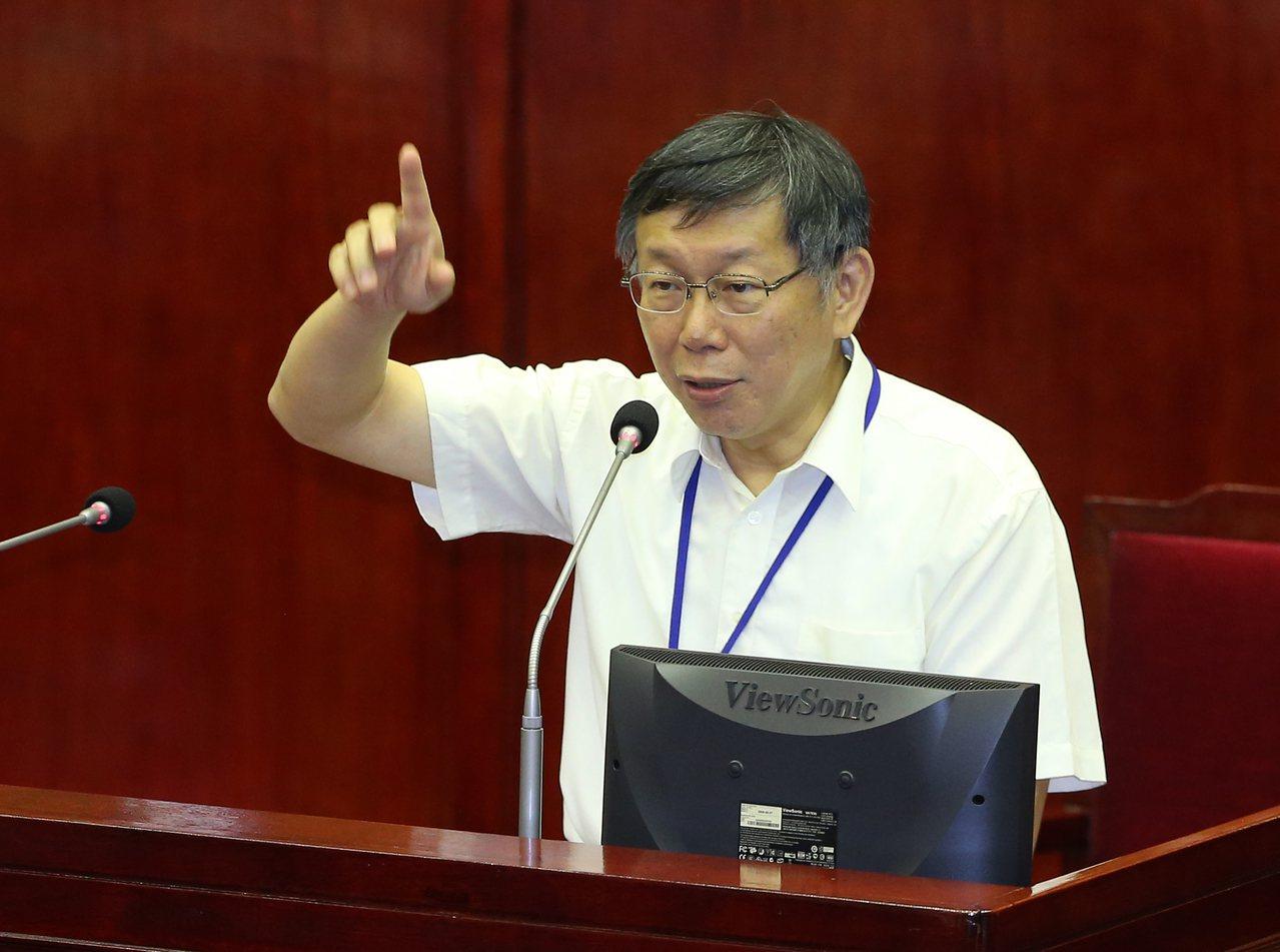 台北市長柯文哲競選時承諾要提供藝術家「便宜的生活、工作、展演空間」。 聯合報系資...