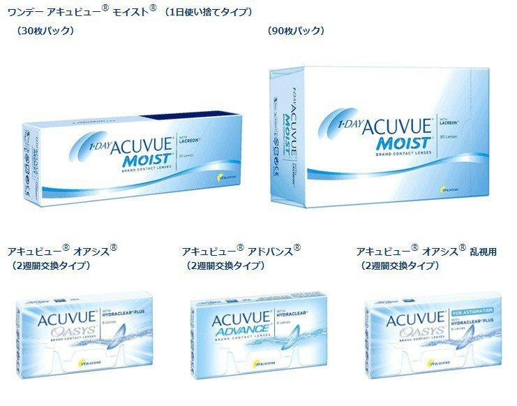 嬌生集團日本分公司昨天下午宣布旗下知名隱形眼鏡品牌「安視優」(Acuvue)中,...