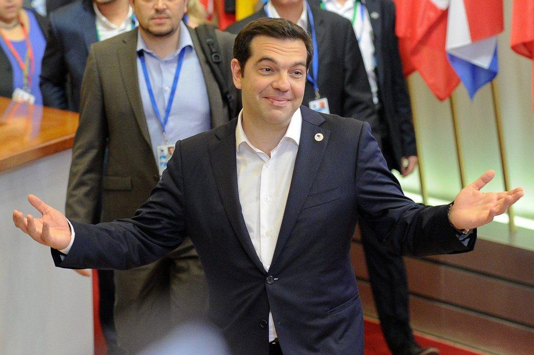 希臘總理齊普拉斯。 歐新社