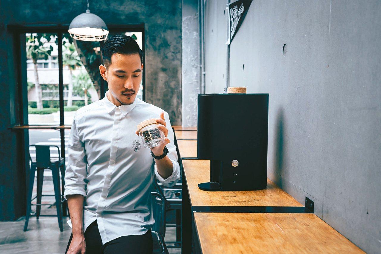世界沖煮冠軍王策的得勝利器IKAWA COFFEE ROASTER。圖/咖啡大叔