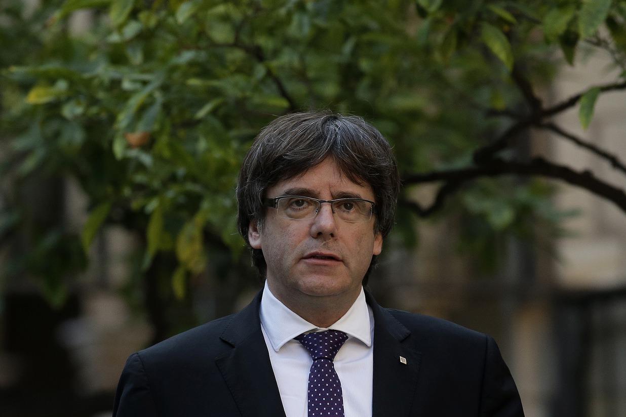 加泰隆尼亞領袖普伊格蒙特(Carles Puigdemont)。 美聯社