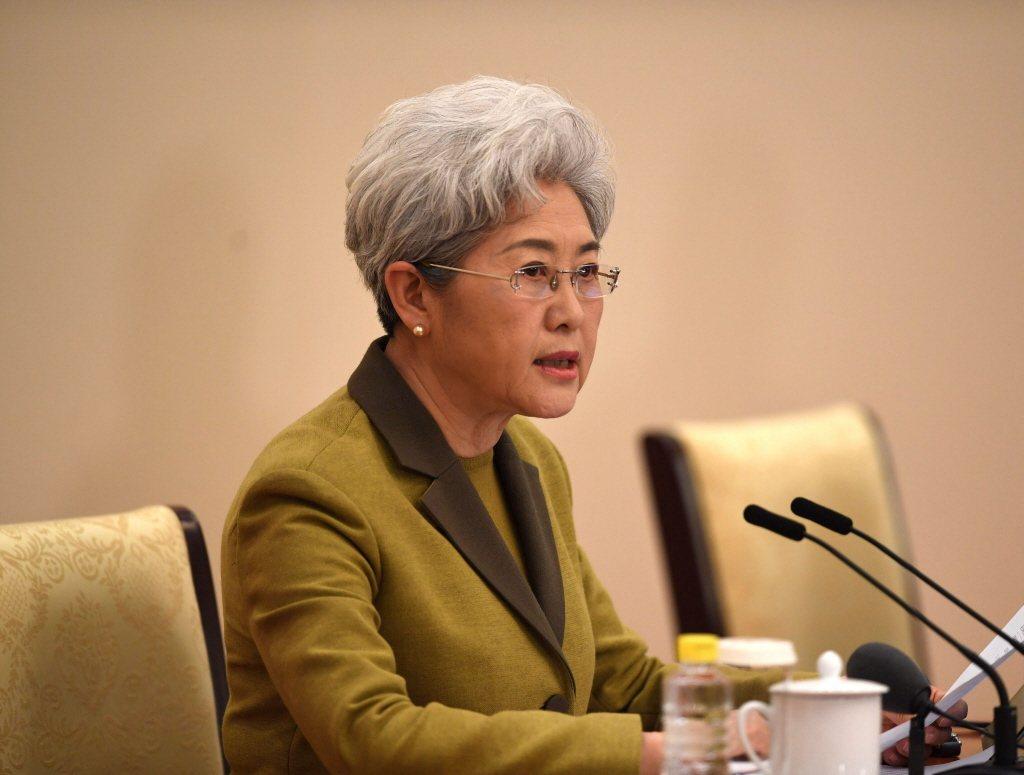 前中國外交部副部長傅瑩。新華社