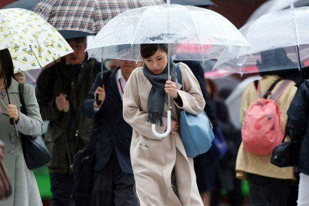 東京出現31年以來10月最低溫紀錄,日本氣象局提醒民眾注意保暖。 圖/擷自goo...