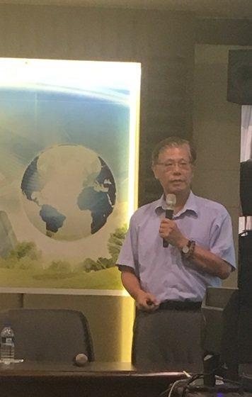 圖1:台北大學自然資源與環境管理研究所所長李堅明 (攝影:蔣士棋)