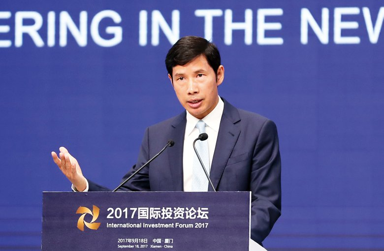 前高盛大中華區主席胡祖六在2017國際投資論壇發言。