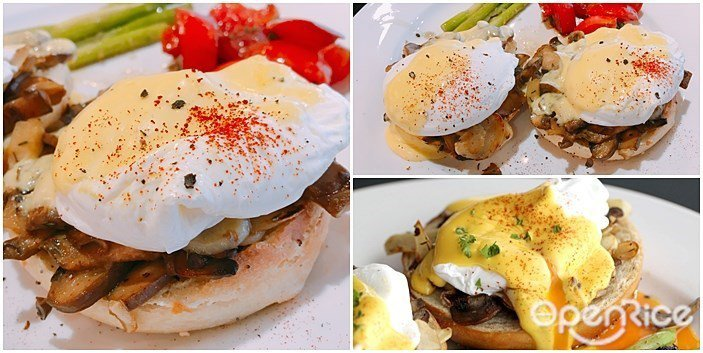 ▲班尼迪克蛋與淋上自製荷蘭醬 NT$320元。美味的早午餐就該如此,一次給你2個...