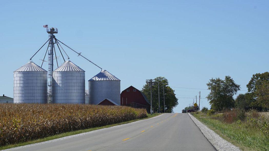 鴻海在威斯康辛州設廠預定地,現為農地。(美聯社)