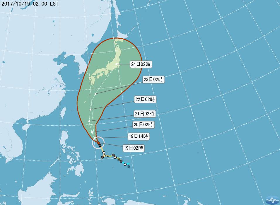 今年第21號颱風蘭恩,未來將以偏北的方向朝日本南方海面移動,預計周末期間將來到琉...