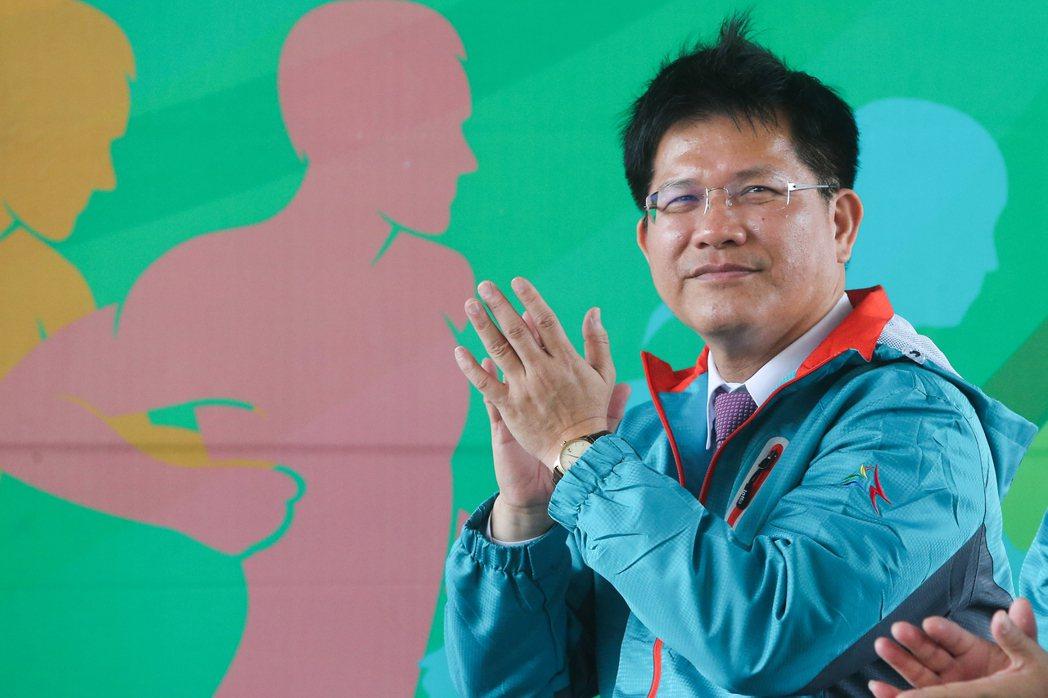 台中市長林佳龍表示,將成立國家級的中部訓練基地,全力打造台中成為運動城市。記者黃...