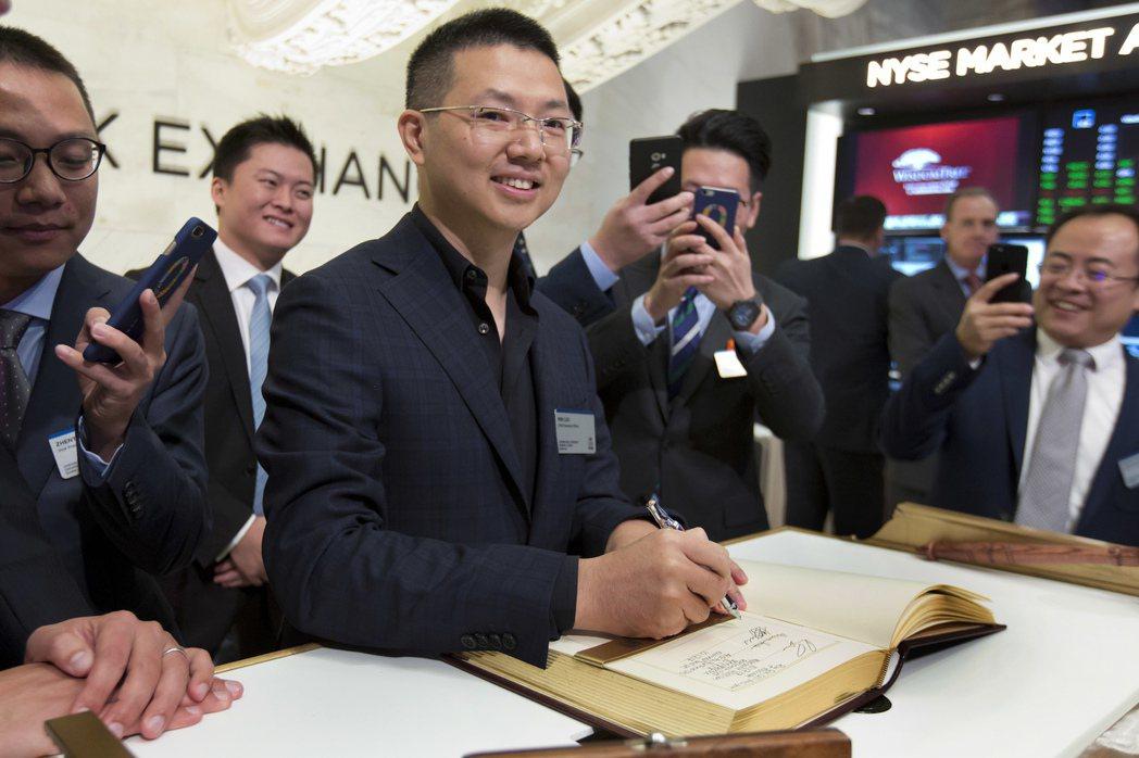 中國線上微型貸款公司趣店18日在美IPO,圖中為34歲的創辦人暨執行長羅敏。(圖...