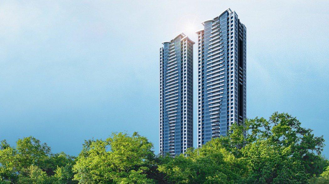 林口第一高住宅大樓「森聯摩天41」。 業者提供