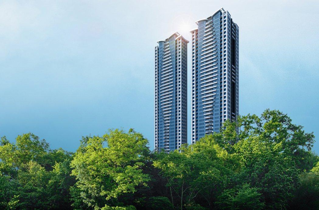 林口第一高住宅大樓「森聯摩天41」今日舉行上樑典禮。圖/業者提供