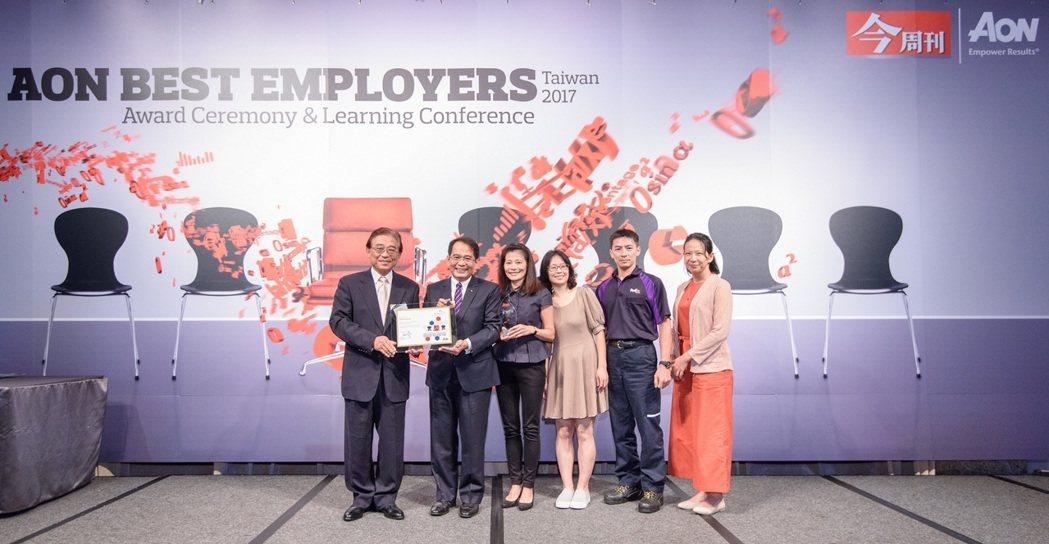全球具規模快遞運輸公司之一的聯邦快遞,第四度榮獲怡安台灣最佳僱主殊榮。 圖/聯邦...