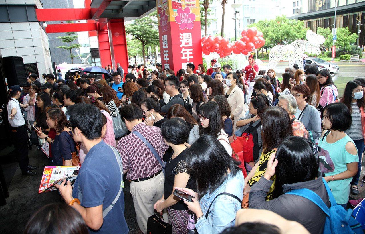 新光三越台北信義店周年慶開跑。記者陳瑞源/攝影