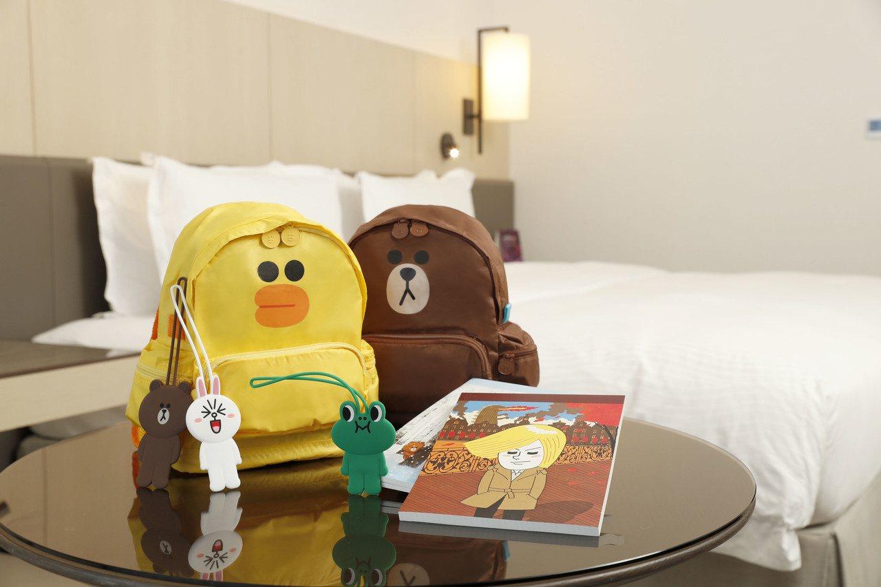 入住西華飯店或萬豪酒店就送LINE獨家伴手禮。圖/西華飯店提供