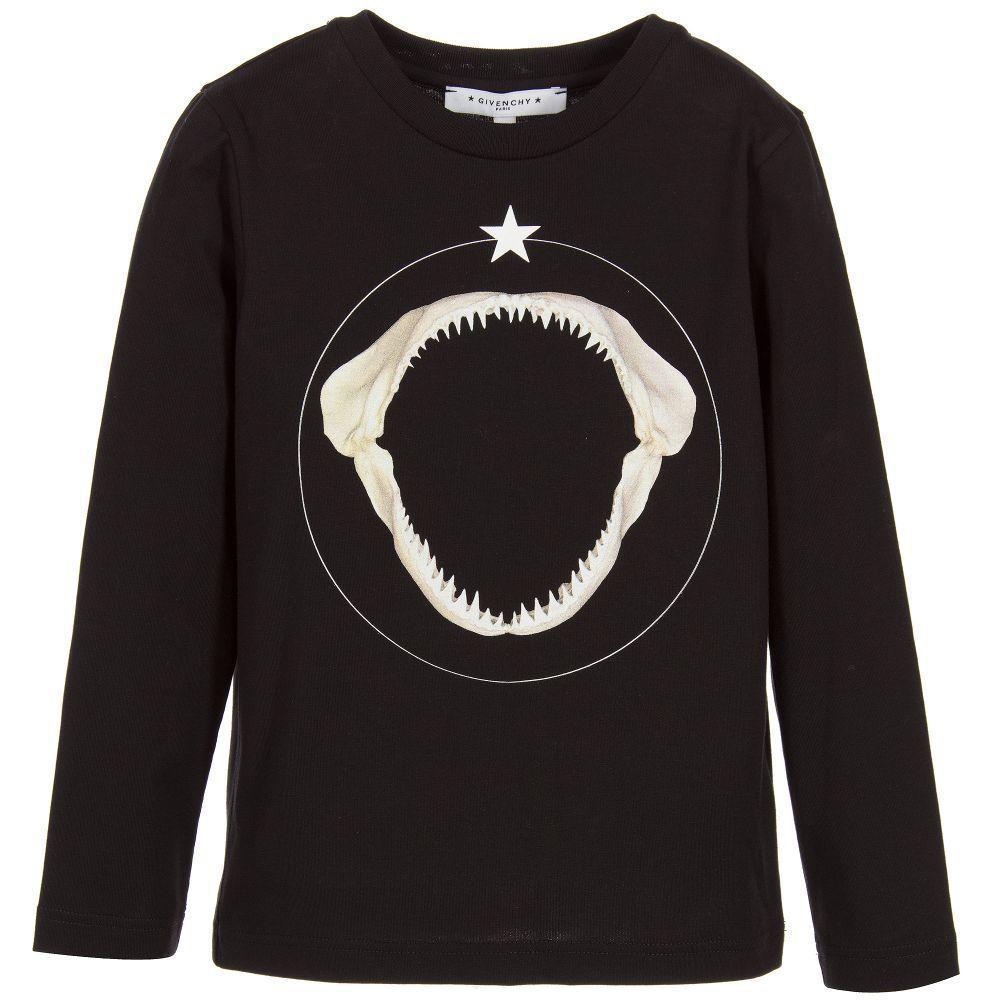 GIVENCHY Kids鯊魚牙齒長袖上衣,6480元。圖/babyMADISO...