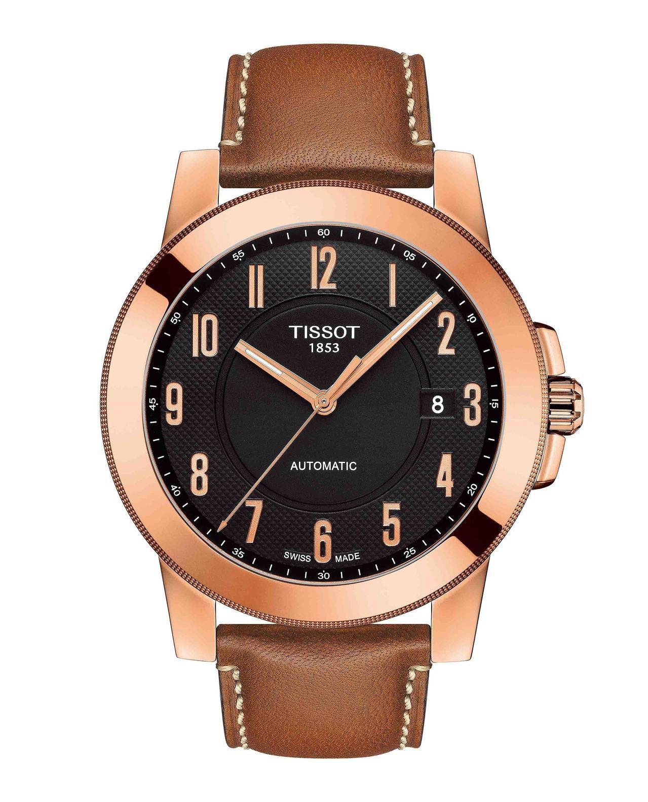 天梭Gentleman紳士系列腕表,搭載Swissmatic自動上鍊機芯,玫瑰金...