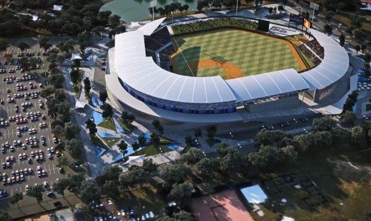 台灣政府3000萬美金金援,使得尼加拉瓜球迷有機會坐進這座大聯盟等級球場內觀賞比...