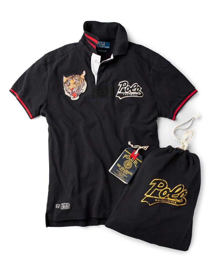 限量Collegiate Polo衫以網布抽繩袋包裝。圖/Ralph Laure...
