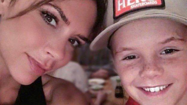維多莉亞與克魯茲母子情深。圖/摘自Instagram