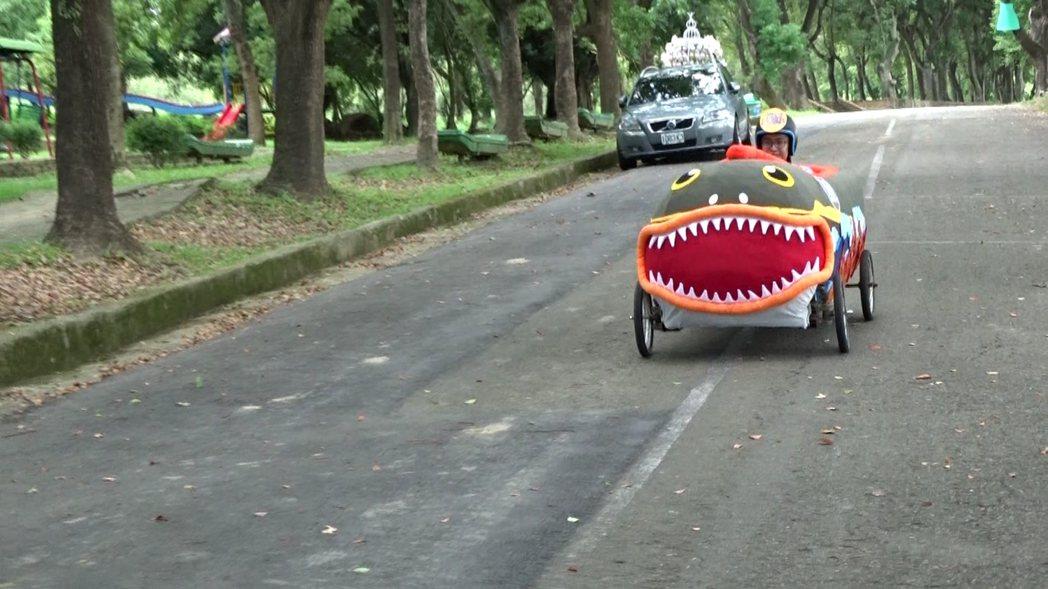 「西拉雅趣飛車」將登場,走馬瀨農場28日當天10點前開放免費入場,圖為西拉雅風管...