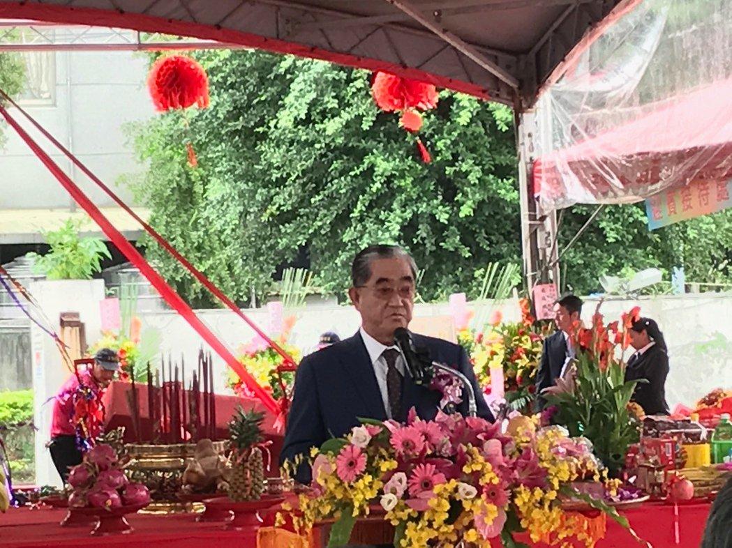 華南金副董林明成今日出席華南金自辦都更的動土典禮。記者 郭幸宜/攝影