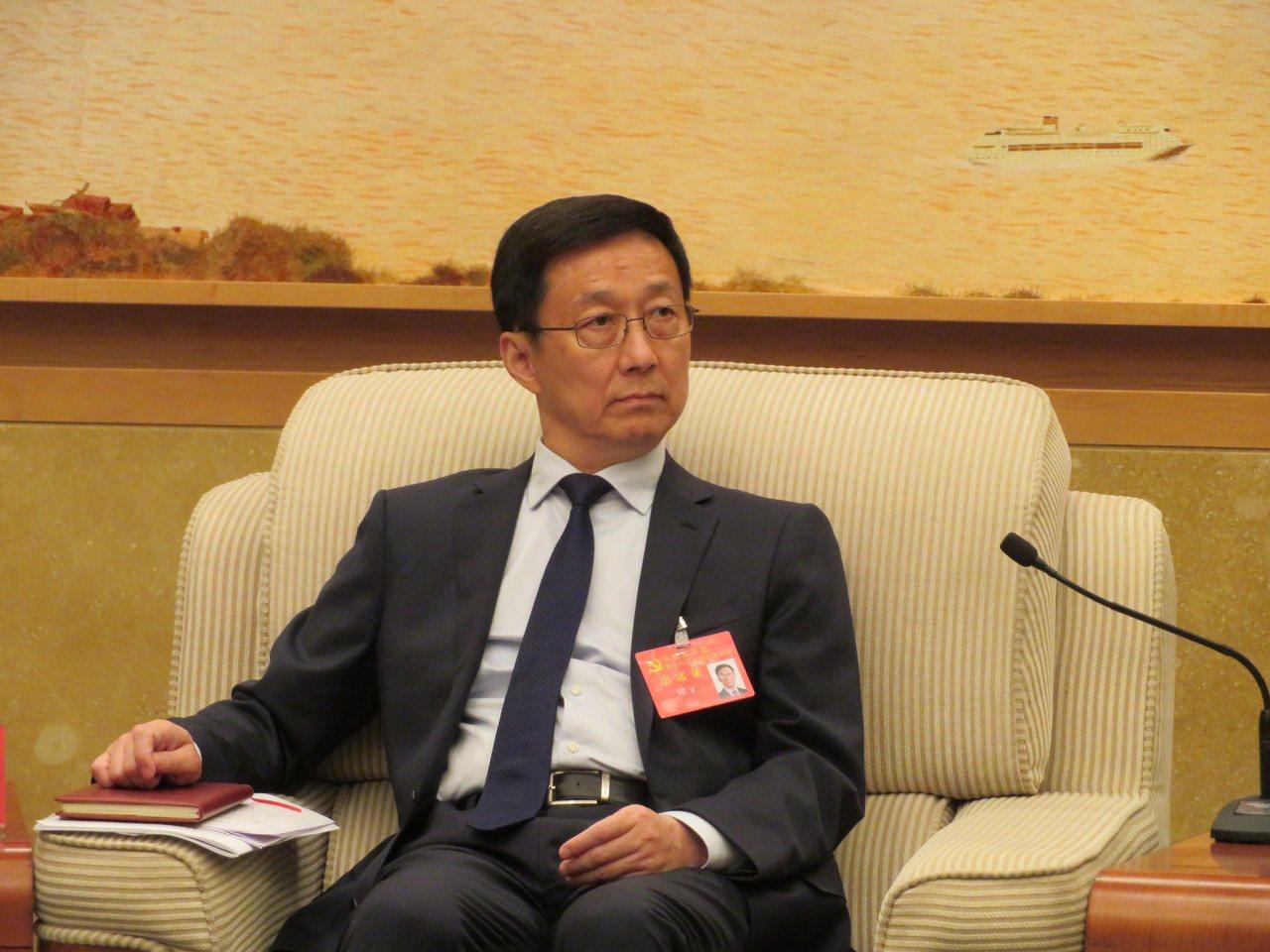 中共上海市委書記韓正。特派記者林則宏/攝影
