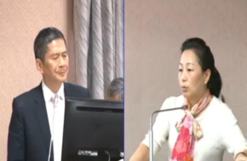 客委會主委李永得昨在立法院內政委員會答詢時,反嗆立委徐榛蔚 。圖/擷取自國會頻道