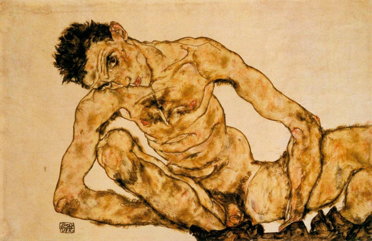 圖九:少年席勒像卡夫卡預言世界的遊走魂魄。 ◎蔣勳/圖片提供