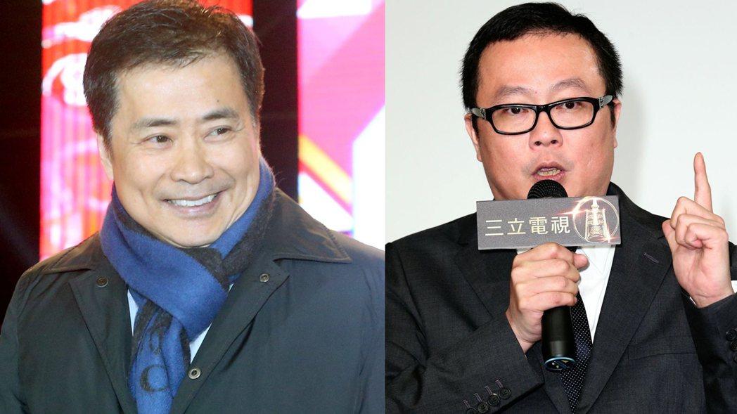 左為三立集團總經理張榮華,右為莊文信。圖/聯合報系資料照