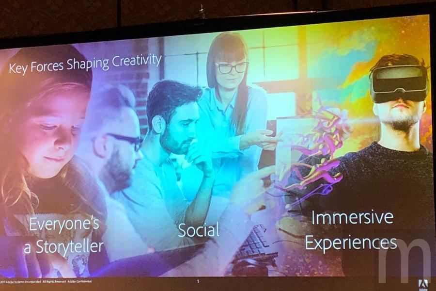 Creative Cloud現階段三大發展主軸:讓每個人成為說故事者、線上互動、...