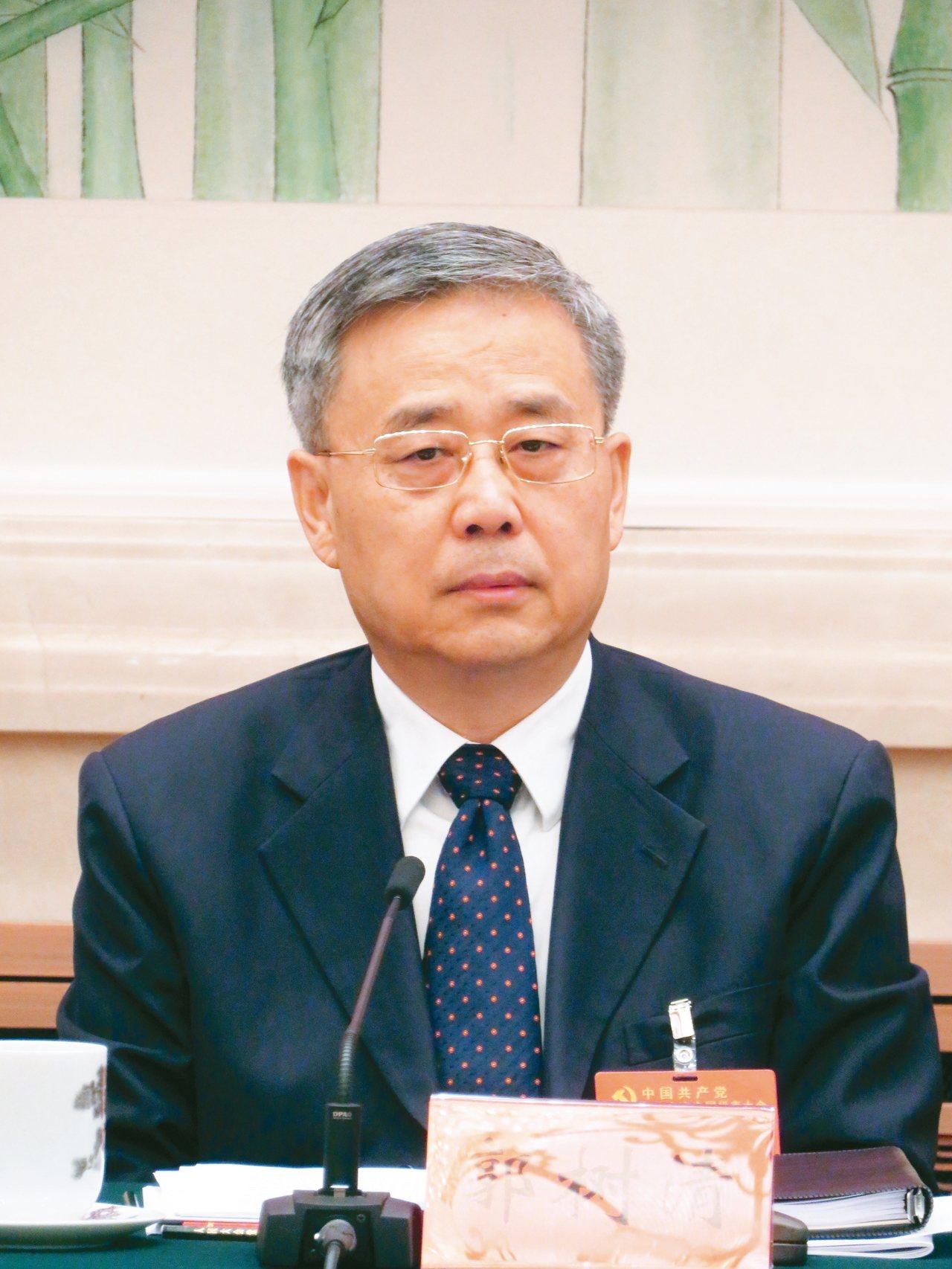 大陸銀監會主席郭樹清。 特派記者林則宏/攝影