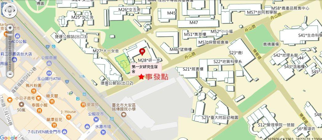 圖/台灣大學校園地圖