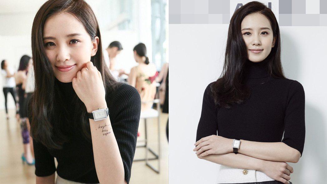 劉詩詩長髮模樣非常美。 圖/擷自微博。