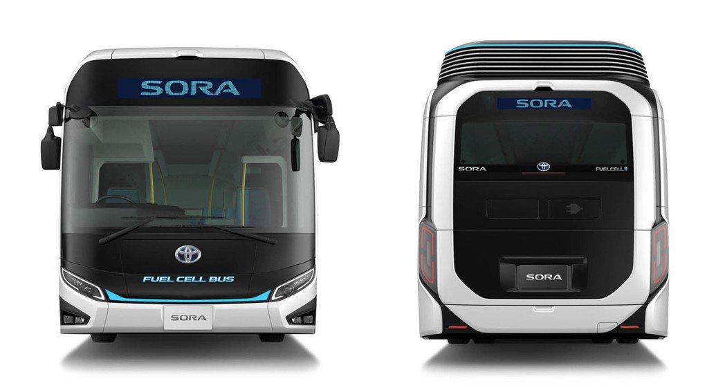 以氫燃料電池作為動力來源。 摘自Toyota