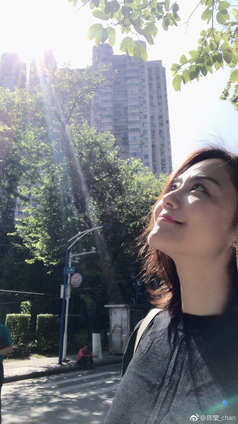 陳瑩美貌依舊。圖/擷自微博