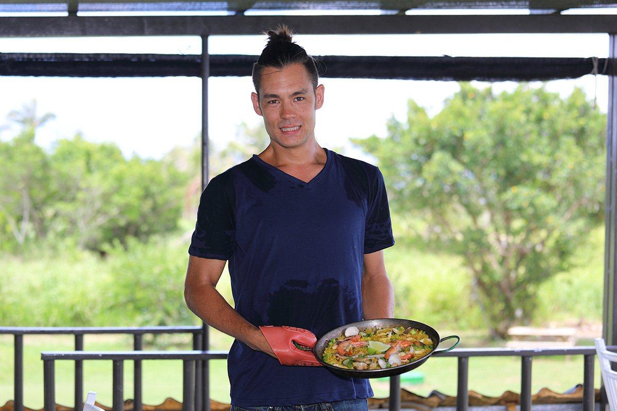都蘭海角咖啡的外籍主廚帥哥擅長西式家鄉料理,不管是燉飯、義大利麵或沙拉都很美味。