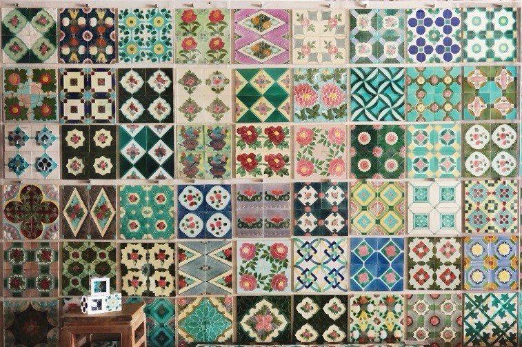 花磚古厝內有1500片花磚。(攝影/林郁姍)