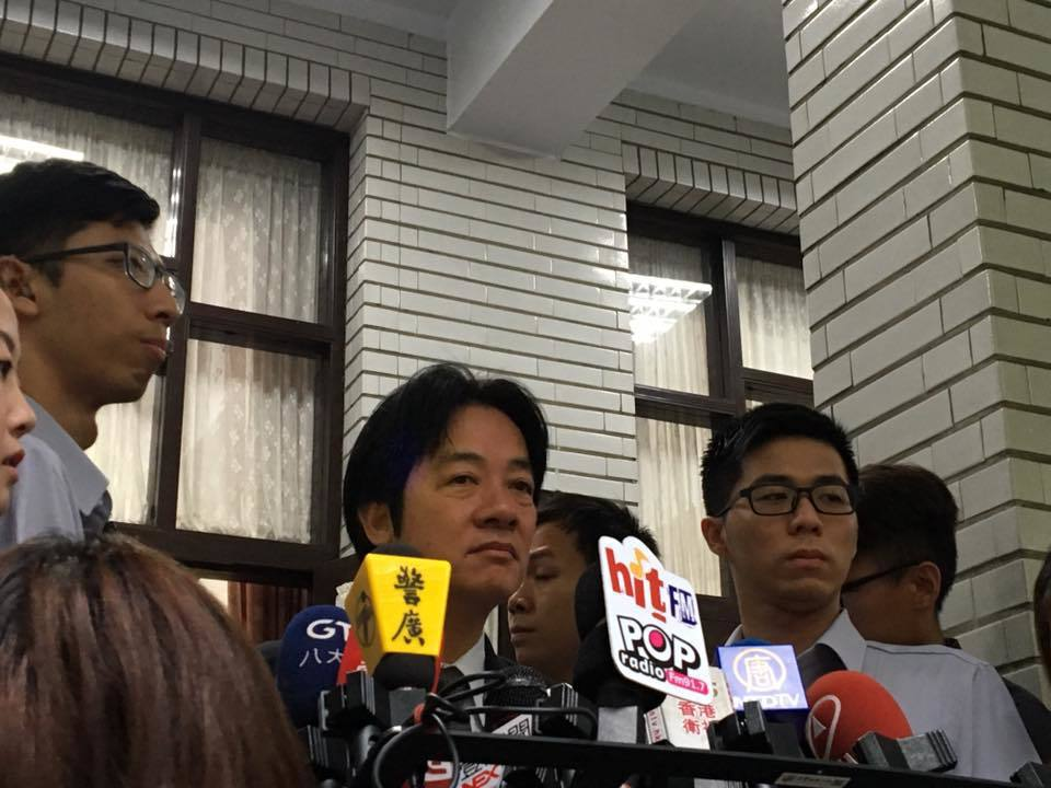 行政院長賴清德今早在立法院接受媒體提問。記者周佑政/攝影