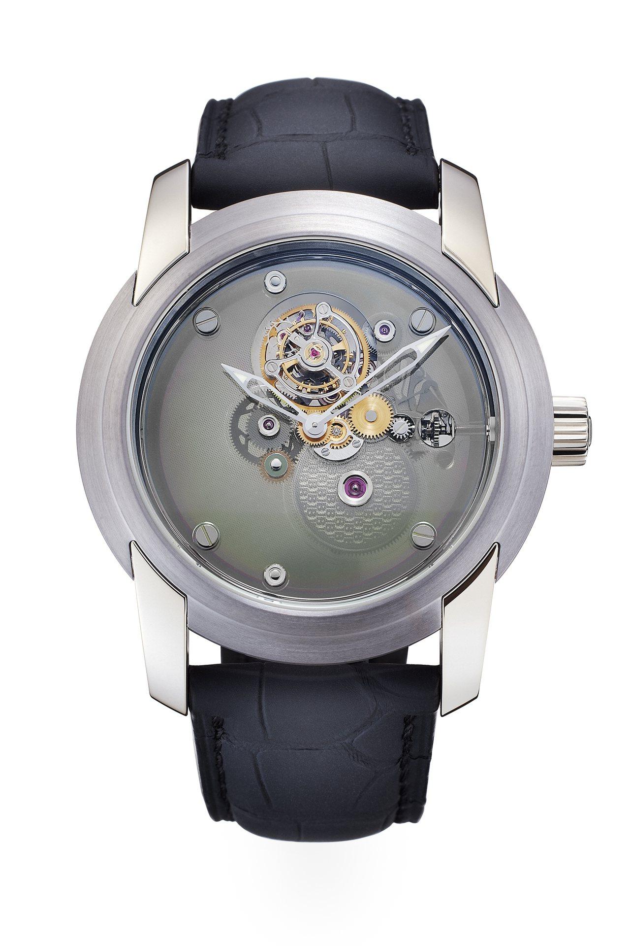 寶鉑藍寶石一分鐘飛行卡羅素限量表,全球限量50只,台灣藏家購入編號1號的珍品。圖...