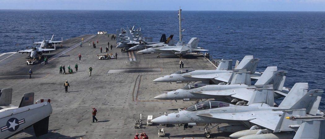 美國航母雷根號16-20日在東海與南韓舉行聯合軍演。歐新社