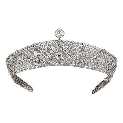 卡地亞古董珍藏系列 Oriental 鑽石冠冕,鉑金鑲嵌鑽石。卡地亞巴黎1911...