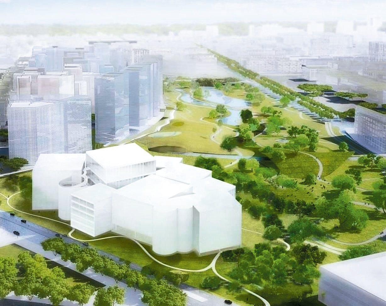 日本建築師妹島和世新作台中綠美圖,位於台中水湳中央公園北側,打造森林中的美術、圖...